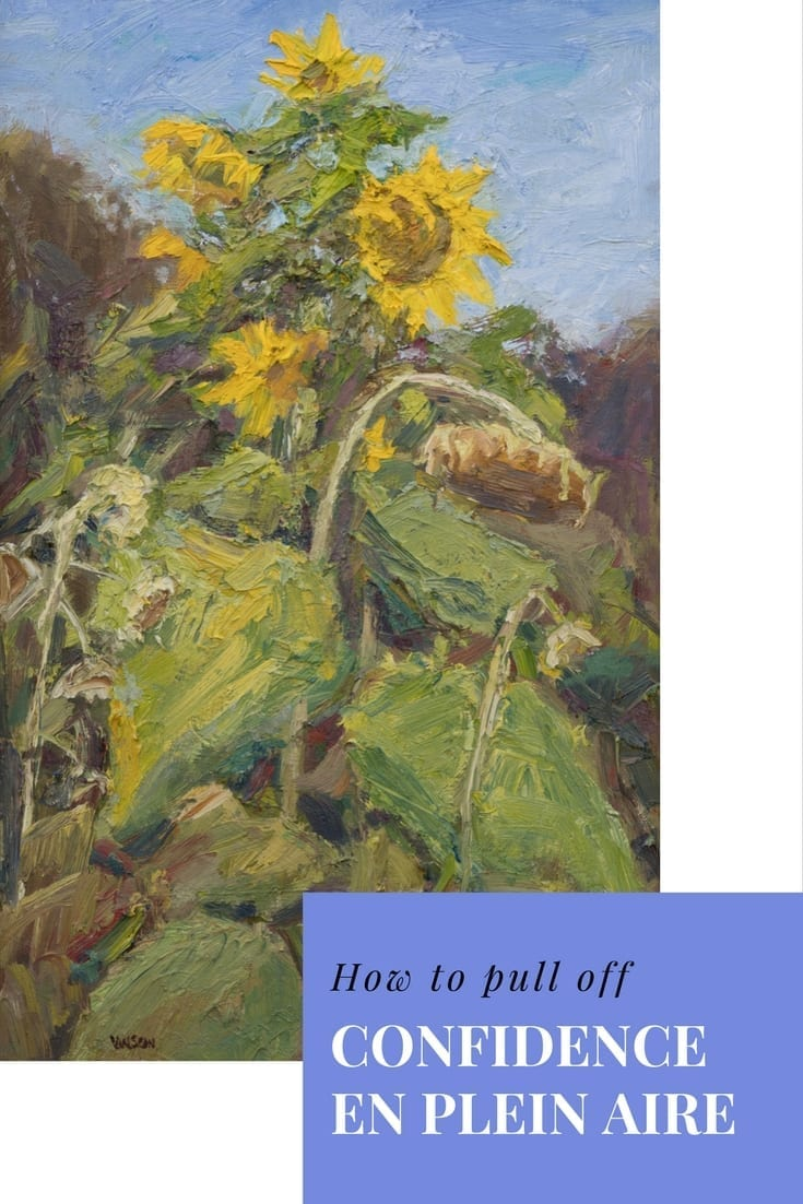 How to pull off Confidence in Plein Air Painting